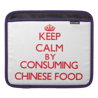 Guarde la calma consumiendo la comida china manga de iPad