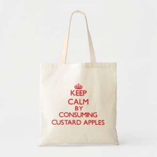 Guarde la calma consumiendo las anonas bolsa lienzo