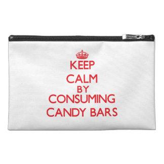 Guarde la calma consumiendo las barras de caramelo