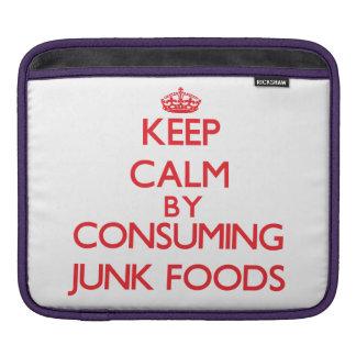 Guarde la calma consumiendo las comidas de desperd fundas para iPads