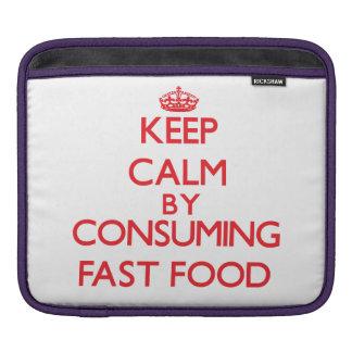 Guarde la calma consumiendo los alimentos de prepa funda para iPads