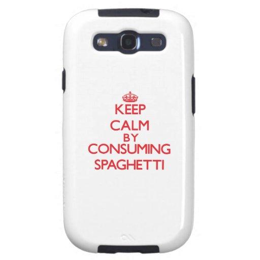 Guarde la calma consumiendo los espaguetis galaxy s3 carcasa