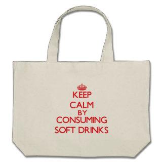 Guarde la calma consumiendo los refrescos bolsa