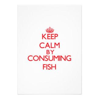 Guarde la calma consumiendo pescados invitacion personal