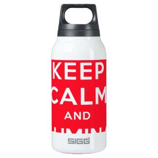 Guarde la calma e Illuminati Botella Isotérmica De Agua