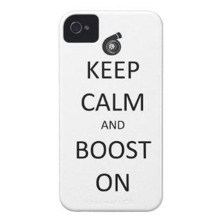 Guarde la calma e impulse encendido - el caso del  Case-Mate iPhone 4 protector