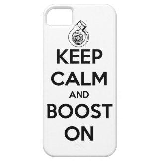 Guarde la calma e impúlsela en el caso de Iphone 5 iPhone 5 Case-Mate Carcasas