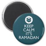 guarde la calma el su Ramadán Iman De Frigorífico