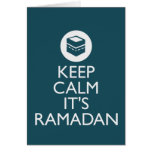 guarde la calma el su Ramadán Tarjetón