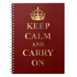 Guarde la calma en cualquier color cuaderno
