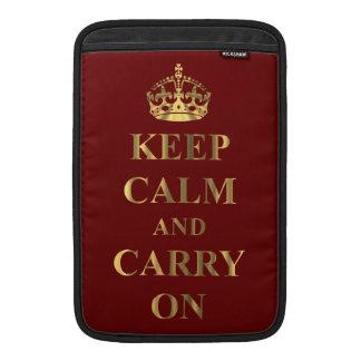 Guarde la calma en cualquier color funda  MacBook
