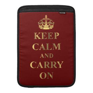 Guarde la calma en cualquier color fundas macbook air