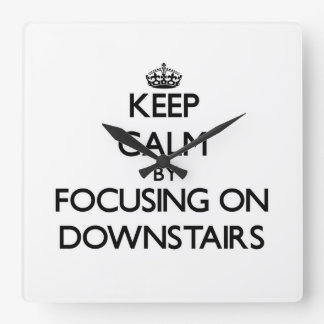 Guarde la calma enfocándose encendido abajo