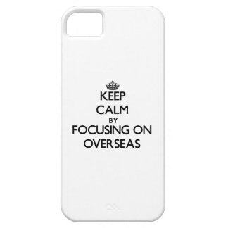 Guarde la calma enfocándose encendido en ultramar iPhone 5 Case-Mate funda