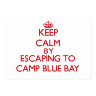Guarde la calma escapándose a acampar bahía azul N Tarjetas De Visita