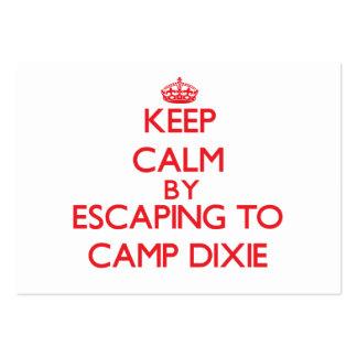 Guarde la calma escapándose a acampar Dixie Alabam Tarjeta De Visita