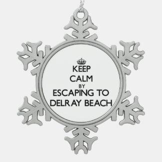 Guarde la calma escapándose a Delray Beach la Adorno De Peltre En Forma De Copo De Nieve