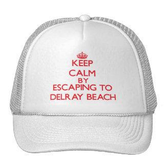 Guarde la calma escapándose a Delray Beach la Flor Gorro