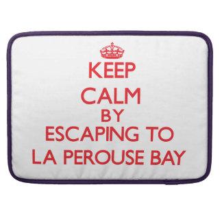 Guarde la calma escapándose a la bahía Hawaii de P Funda Para Macbook Pro