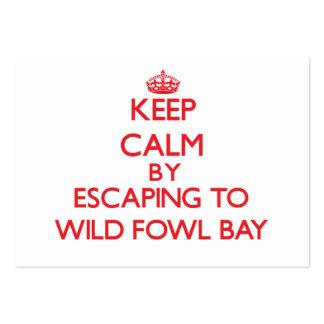 Guarde la calma escapándose a la bahía salvaje tarjetas de visita grandes