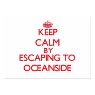 Guarde la calma escapándose a la costa Maryland Tarjetas De Visita Grandes