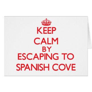 Guarde la calma escapándose a la ensenada española tarjeta de felicitación