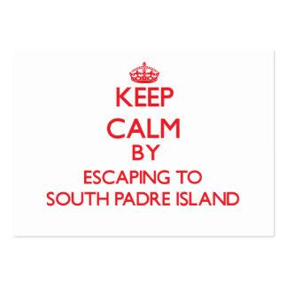 Guarde la calma escapándose a la isla del sur Teja Plantillas De Tarjeta De Negocio