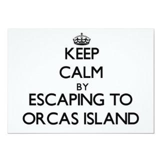Guarde la calma escapándose a la isla Washington Invitación 12,7 X 17,8 Cm