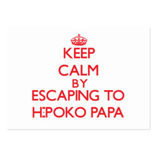 Guarde la calma escapándose a la papá Hawaii de H- Tarjeta De Visita