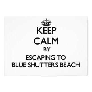 Guarde la calma escapándose a la playa azul Rhode