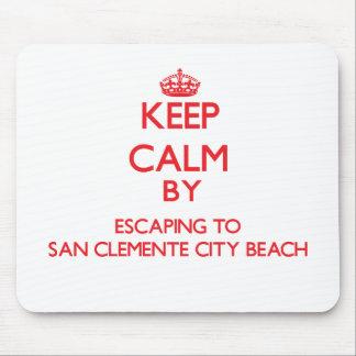 Guarde la calma escapándose a la playa C de la ciu Alfombrillas De Ratones