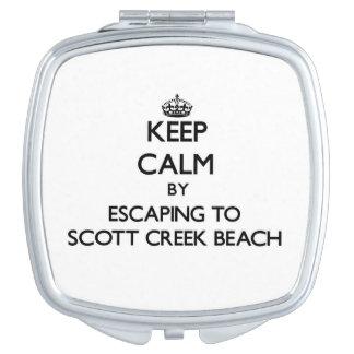 Guarde la calma escapándose a la playa Califor de  Espejo Maquillaje