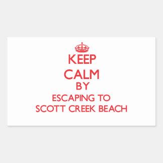 Guarde la calma escapándose a la playa Califor de Pegatina Rectangular