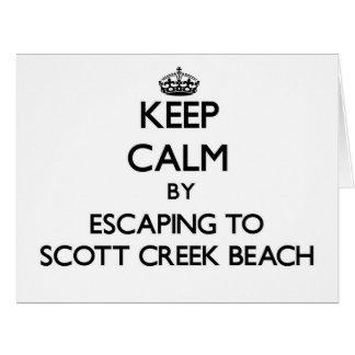 Guarde la calma escapándose a la playa Califor de Tarjeta De Felicitación Grande