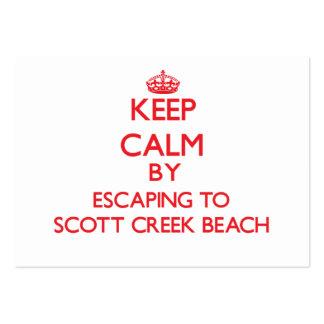 Guarde la calma escapándose a la playa Califor de Tarjetas De Visita Grandes