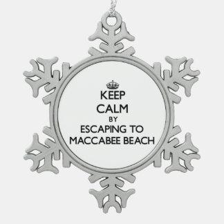 Guarde la calma escapándose a la playa California Adorno De Peltre En Forma De Copo De Nieve