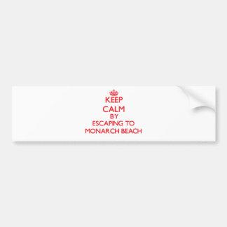 Guarde la calma escapándose a la playa California Pegatina Para Auto