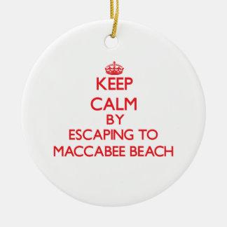 Guarde la calma escapándose a la playa California Adorno Redondo De Cerámica