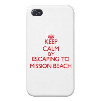 Guarde la calma escapándose a la playa California  iPhone 4 Funda