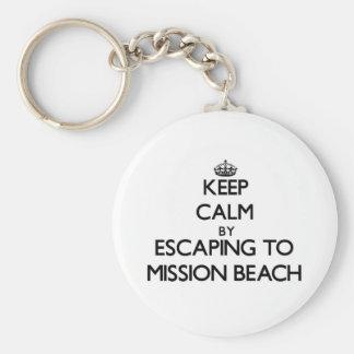 Guarde la calma escapándose a la playa California  Llavero