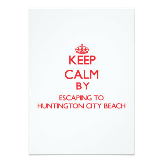 Guarde la calma escapándose a la playa caloría de invitación