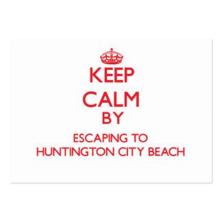 Guarde la calma escapándose a la playa caloría de  plantilla de tarjeta de negocio