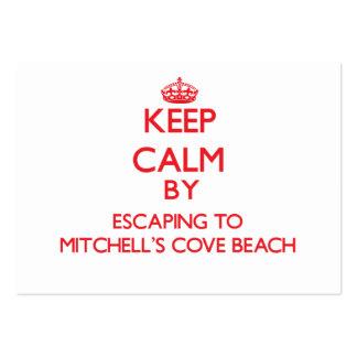 Guarde la calma escapándose a la playa caloría de  tarjetas de visita