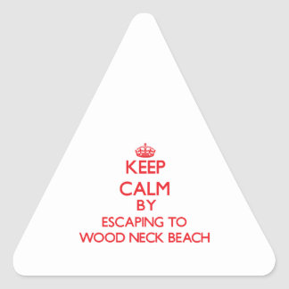 Guarde la calma escapándose a la playa de madera pegatina triangular