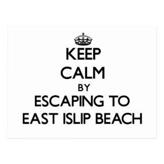 Guarde la calma escapándose a la playa del este tarjetas postales