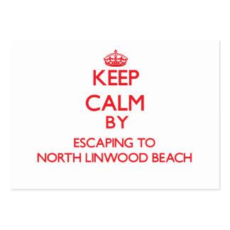 Guarde la calma escapándose a la playa del norte tarjetas de visita grandes