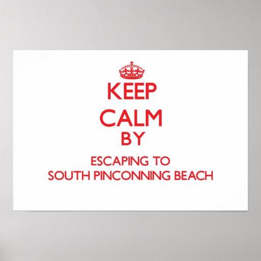 Guarde la calma escapándose a la playa del sur MI  Posters