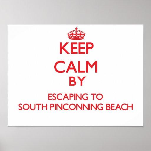 Guarde la calma escapándose a la playa del sur MI  Poster