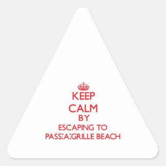 Guarde la calma escapándose a la playa Flori de la Calcomania Trianguloada
