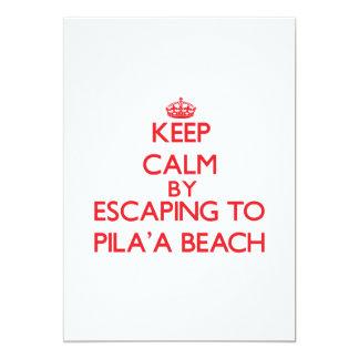 Guarde la calma escapándose a la playa Hawaii de Invitación 12,7 X 17,8 Cm